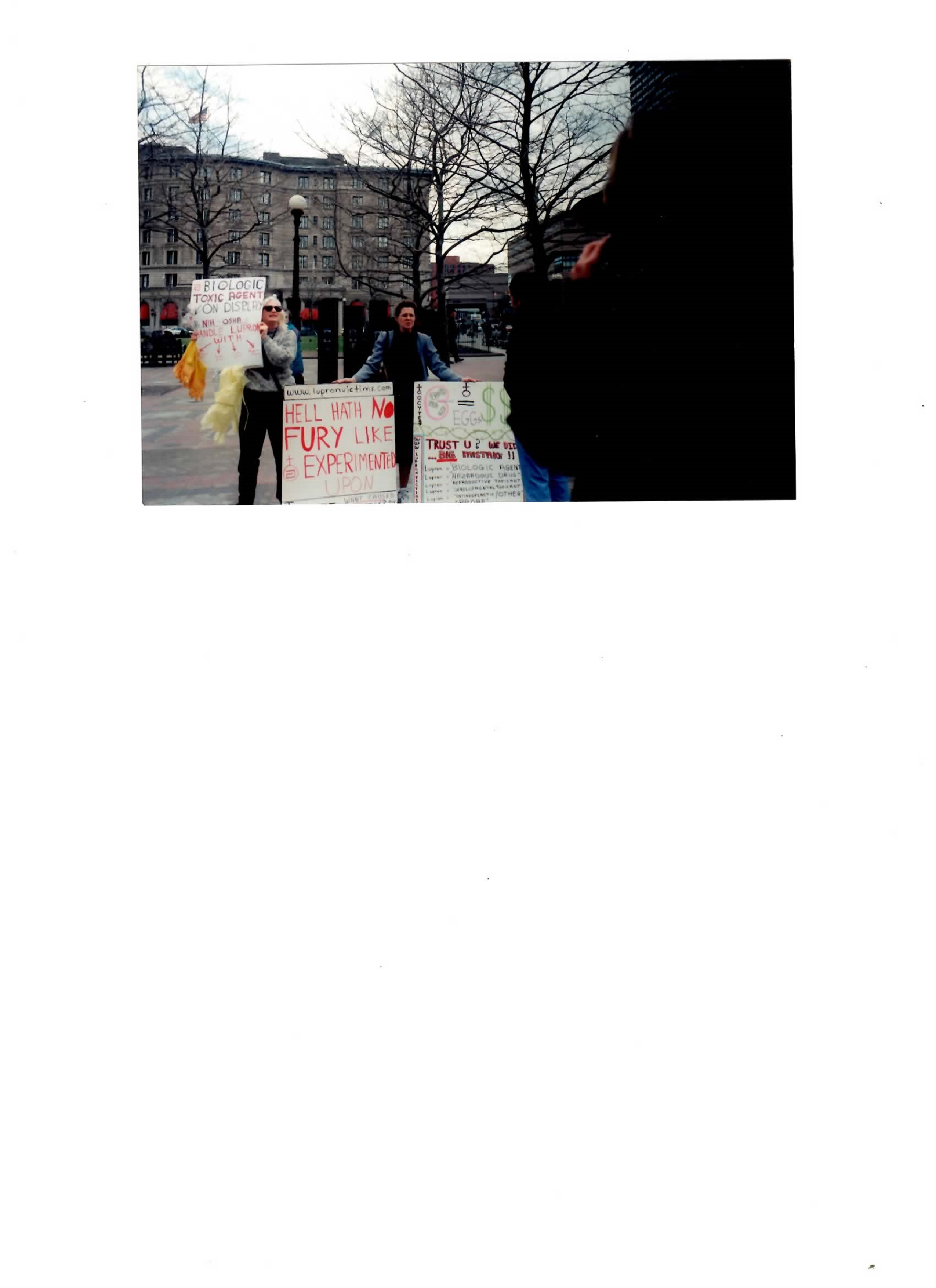 See Photo Of March 1999 Anti Lupron Rally In Boston